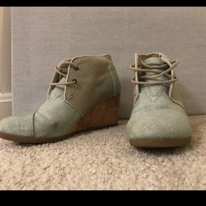 Toms green booties